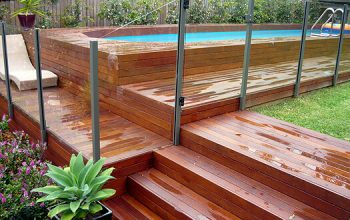 Timber deck around pool 1